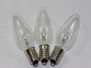 3 x 20V 3W E10 MES Clear Christmas Fairy Light Spare Bulb Pifco, Dencon, Noma