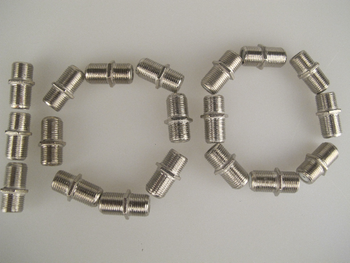 100 X F Connector Plug Coupler Barrel Adaptor Joiner Chassis Mounting