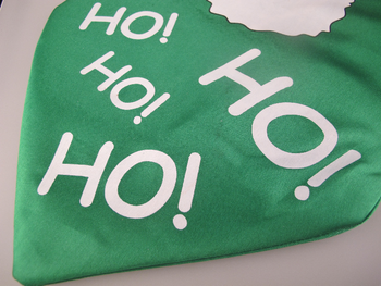 Jumbo / Large Padded Christmas Santa Fun Tie HO! HO! HO! One Size Fits All