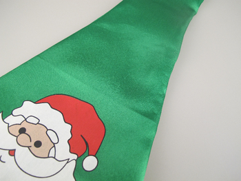 Jumbo / Large Padded Christmas Santa Fun Tie HO! HO! HO! One Size Fits All