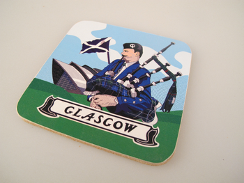 Set Of 6 Glasgow Drinks Coasters / Beer Mats