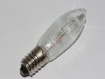 34V, 3W, E10, MES Spare Christmas Bulb Lamp For Candle Bridge X 1