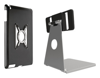 Omnimount OMN-IPA iPad stand for iPad Air, air case and stand silver with black
