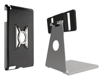 Omnimount OMN-IPM iPad stand for iPad Mini, mini case silver with black