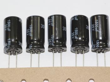 5 X Panasonic Ultra Low ESR 105 Degrees FR Range Radial Electrolytic Capacitors