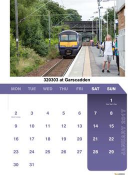 Trains of Scotland Calendar 2017 January