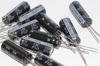 10 x Panasonic 470uF 25V EEUFR1E471L Slim Ultra Low ESR Electrolytic Capacitors