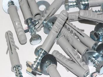 50 x M8 x 50mm Masonry Brick Wall Fixing Screw Bolts & Raw Plugs With Washers