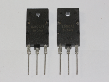 2 x S2000A3 NPN Power Transistor, 1500V 8A Horizontal Output Device