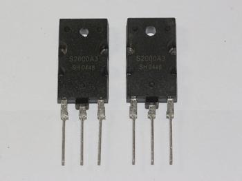 2 x S2000A3 NPN Power Transistor, 1500V 8A Horizontal Output Device