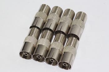 8 x Satellite F Socket to Female Coax Plug Adaptor Converter Connector