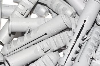 50 x 10mm x 50mm Heavy Duty Nylon Wall Plug With Flange - Satellite & Brickwork