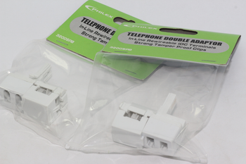 2 x BT Telephone Splitter Doubler With Inline IDC Breakout Connection