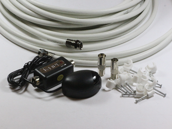 Global TV Link Sky Magic Eye Installation Kit With 10m White Cable & Cable Clips