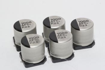 5 x Panasonic 1000uF 10V SMD Low ESR Electrolytic Capacitor EEEFC1A102AP