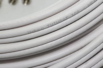 20m of White Webro WF100 Twin Satellite Cable With 4 x F Plugs, Free Cable Clips