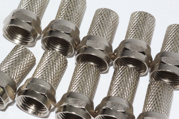10 x Twist On Satellite F Plug Male Connector, 6.4mm SKY, RG6, CT100, WF100