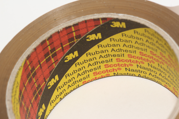 6 Rolls of Parcel Packaging Tape 3 x Buff 3 x Clear 3M Scotch Strong 66m x 48mm