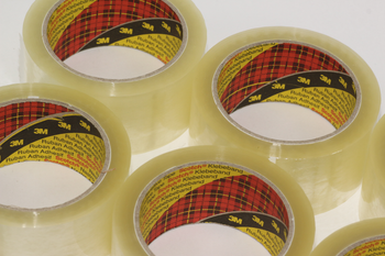 12 Rolls of Parcel Packaging Tape 6 x Buff 6 x Clear 3M Scotch Strong 66m x 48mm