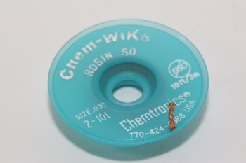 3m of Chem Wik Fast Acting 0.8mm Wide Rosin Flux Desoldering Wick Braid Mop