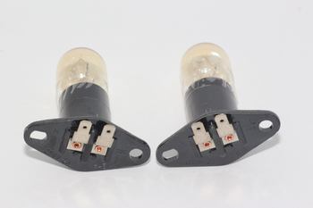 2 x Sanyo Universal Microwave Lamp Bulb 20W 240V With 2 x 4.7mm Flat Terminal