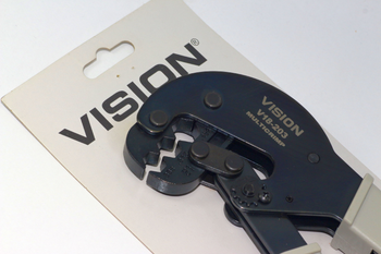 Vision V18-203 Heavy Duty Satellite F Connector Crimping Tool RG6, WF100, WF125
