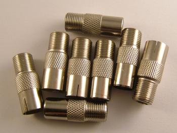 F Socket Adaptor to Male & Female Coax Adaptors F plug