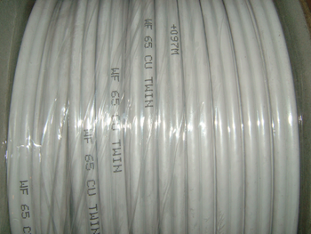 100m White WF65 Shotgun Twin Satellite SKY Plus Cable