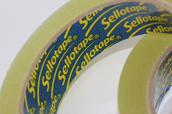 2 x 24mm x 66m Rolls Of Sellotape Original Golden Sticky Tape Henkel 1443268