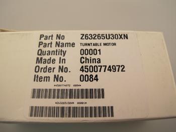 Panasonic New Genuine Microwave Turntable Motor Z63265U30XN / F63266S32XP