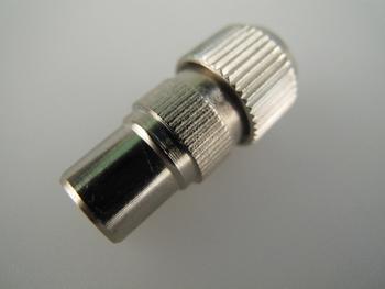Male Coax / Coaxial Nickel Plated Metal TV Aerial Plug