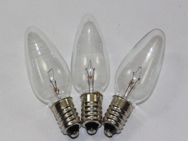 3 x 20V 3W 0.15A E10 Clear Christmas Lights Spare Bulbs, Pifco Dencon 784WC