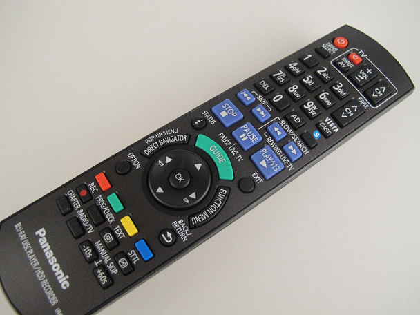 Panasonic N2QAYB000615 Genuine BluRay IR6 DVD Remote Control For DMR-PWT500EB