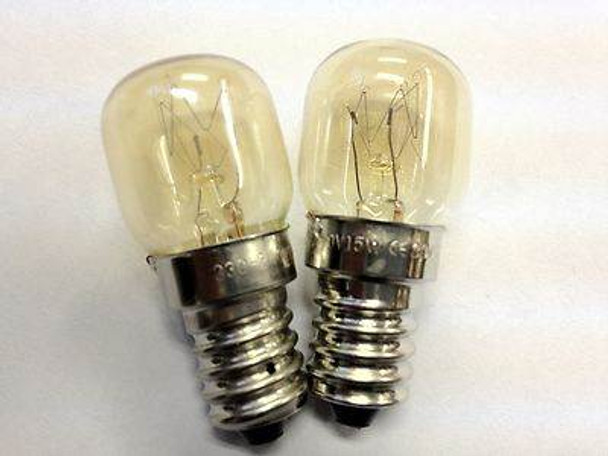 2 x HQ 25W E14 SES High Temperature Small Screw In Oven Lamp Bulb 220-240V AC