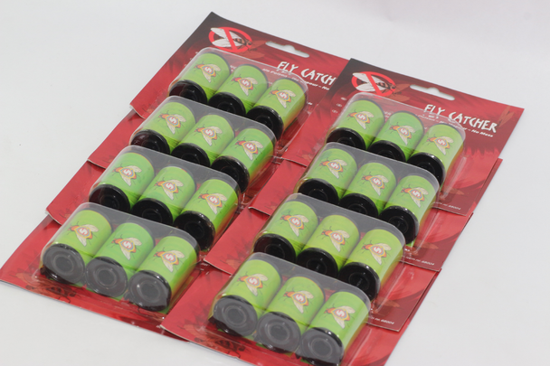 24 x Fly Catcher Sticky Strip, No Poison, No Mess, No Vapour In 35mm Film Spool