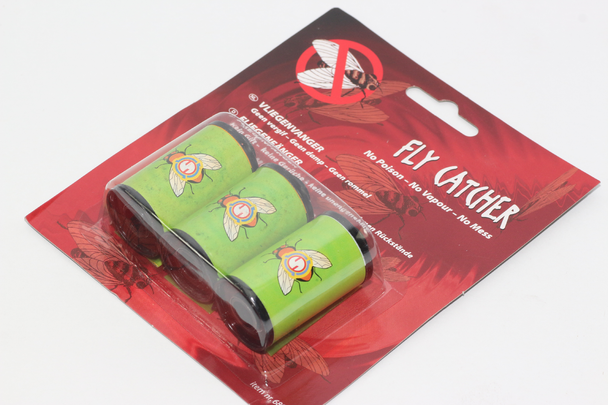 3 x Fly Catcher Sticky Strip, No Poison, No Mess, No Vapour In 35mm Film Spool