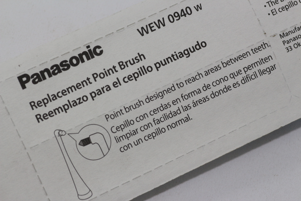 Panasonic WEW0940 Twin Pack of Point Brush Electric Toothbrush Head For EW-DE92