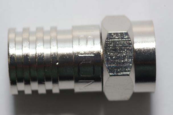 10 x Vision V17-101 Weatherproof Crimp Male F Plug Connector, RG6, WF100, CT100