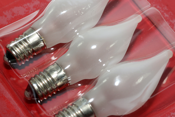 3 Pack of 2648-230 Konstsmide 24V, 1.8W, E10, MES Frosted Twisted Light Bulbs