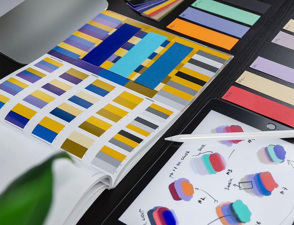 color palette graphic