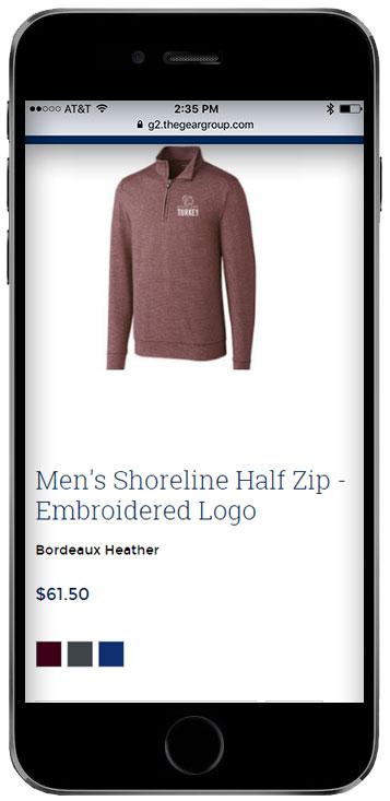 fundraising storefront screenshot