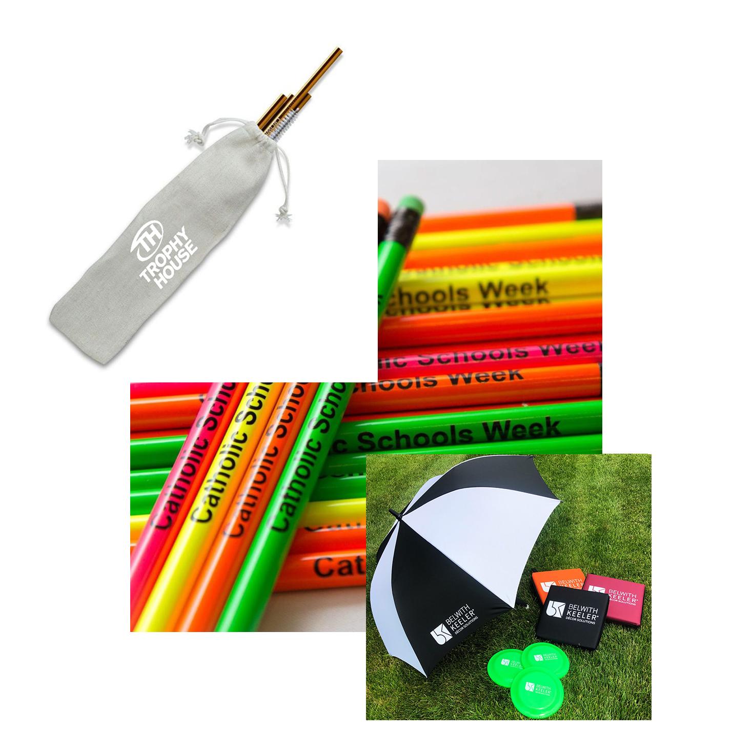 promo items collage