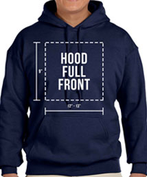 hood full front printing location
