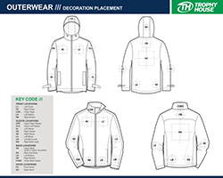 outerwear printing locations