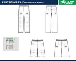 pants and shorts printing locations