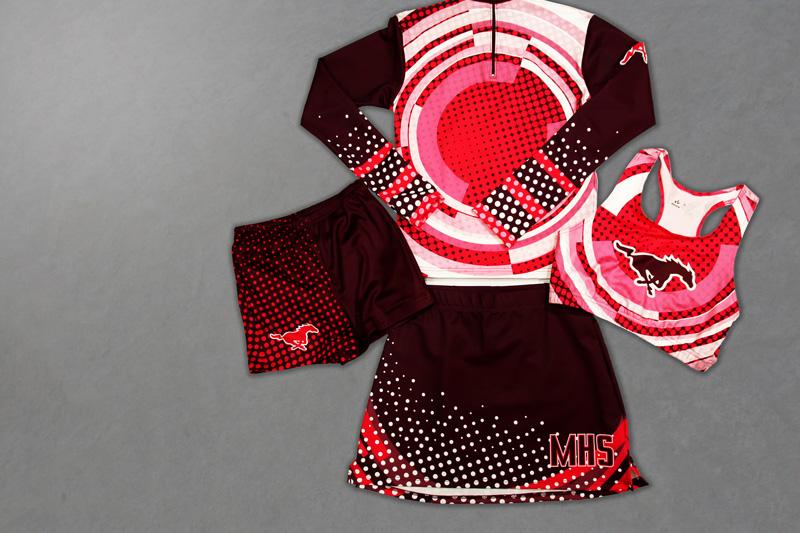 sublimated cheer uniform