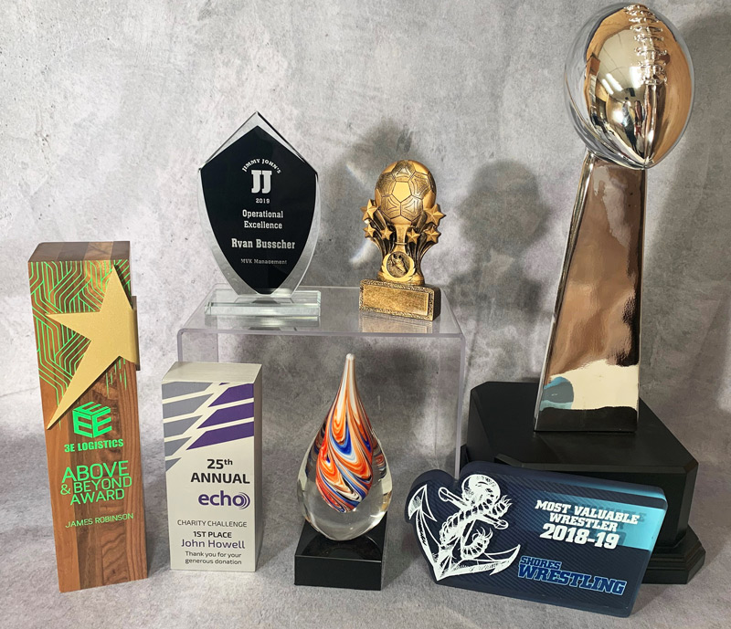 a few trophies and award options