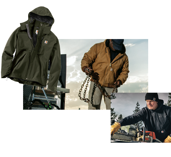 workwear product collage