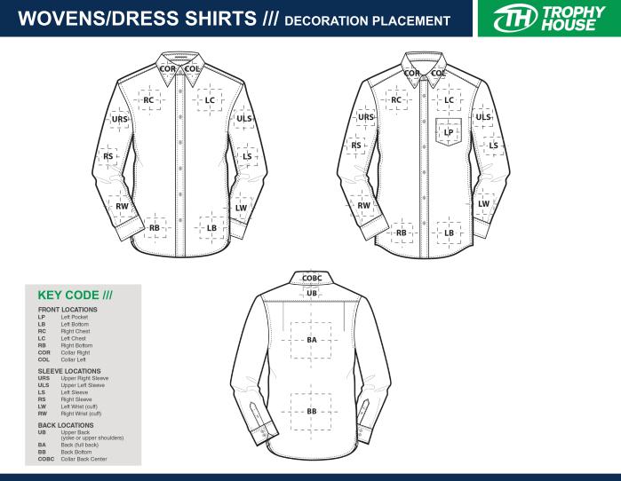dress shirt printing locations