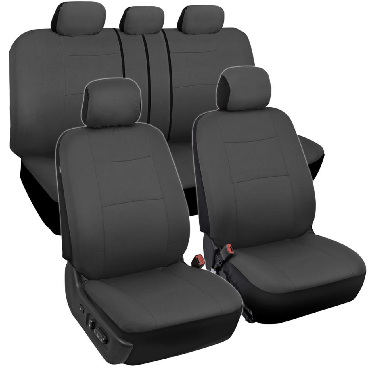 Full Set Heavy Duty Black Waterproof Car seatcovers Fiesta